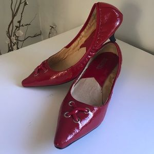 Michael Kors red patent leather shoes